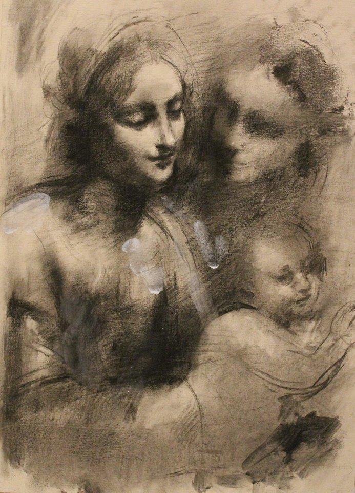 il disegno che ho fatto dal disegno di Leonardo/The drawing after Leonardo