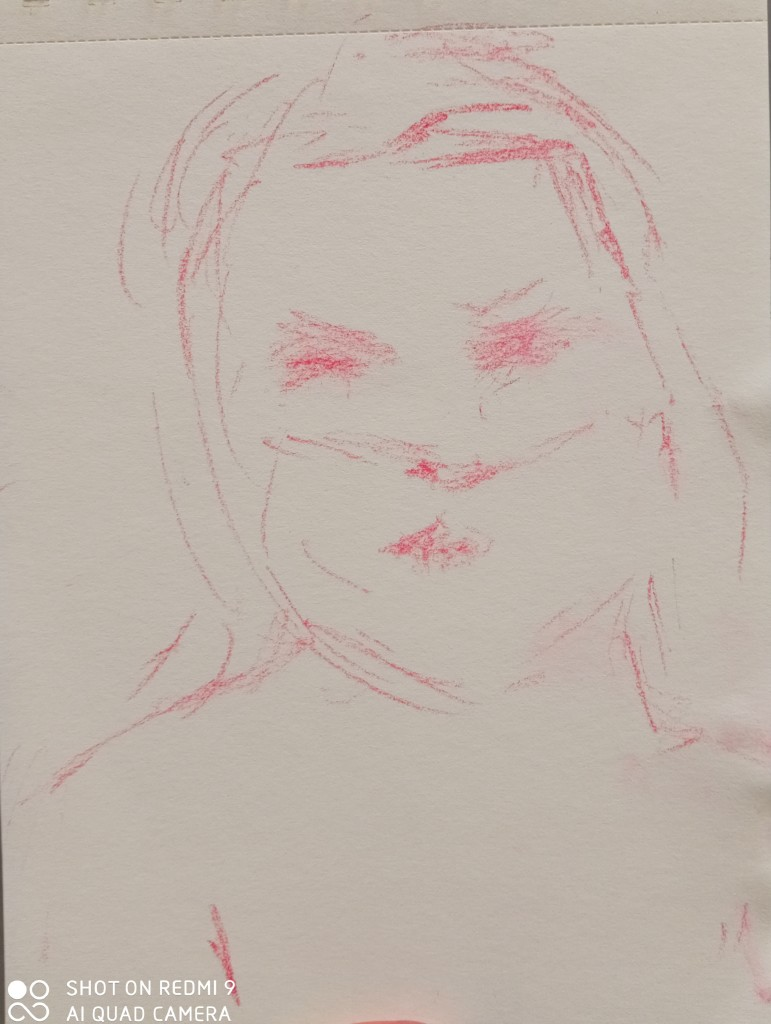 The portrait sketch of the day-The student from Bucarest, Romania