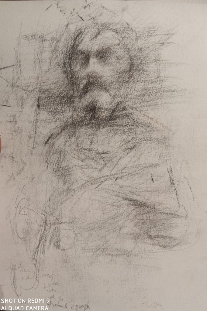 The new analyzing sketch of the tones and composition for the commissioned works-Lorenzo Ghiberti's sculpture