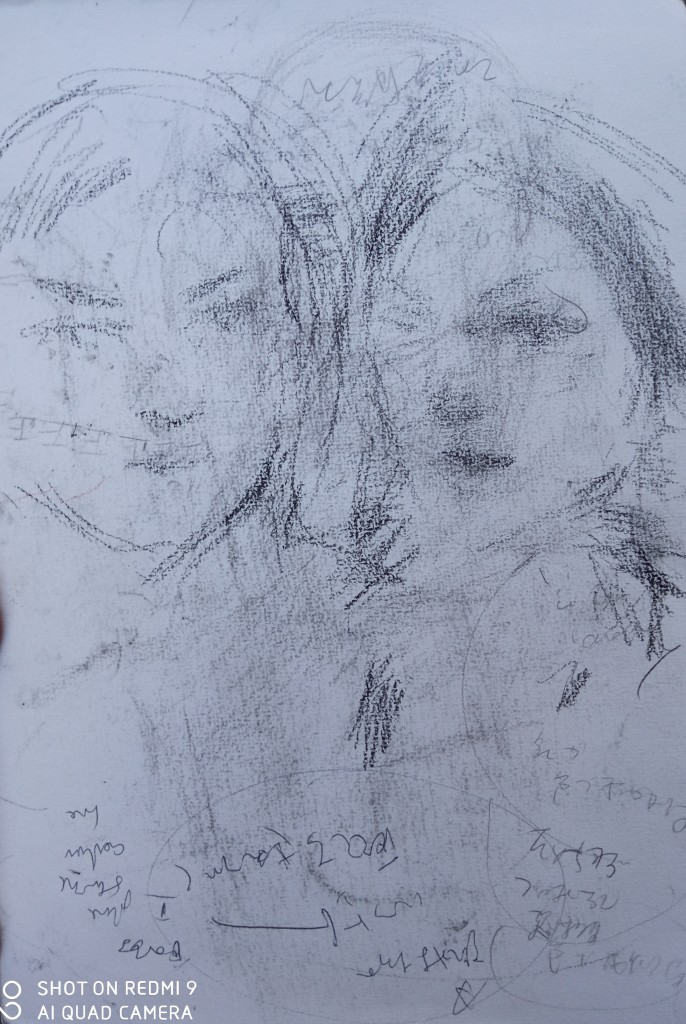 The portrait sketch of the day-The two Fiorentine students