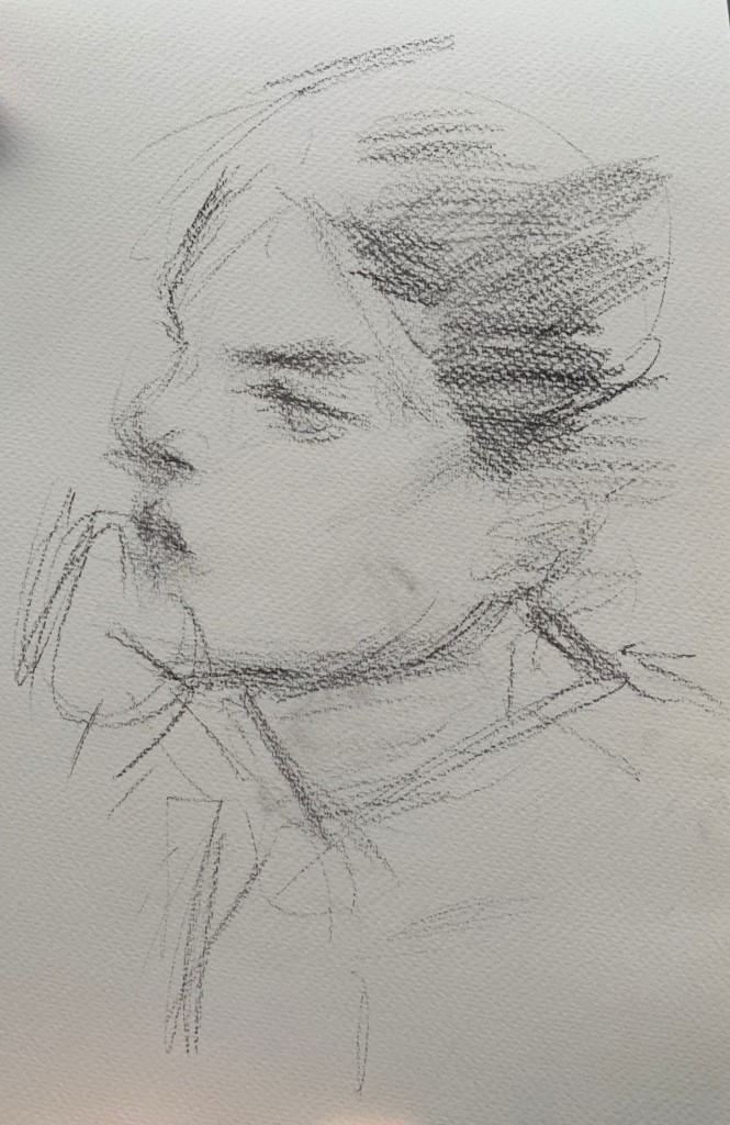 The portrait sketch of my Italian friend/model-the new study of the movement