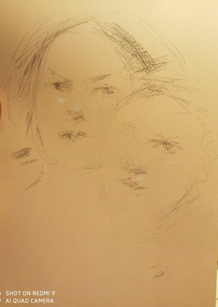 The portrait sketch of the Fiorentine students