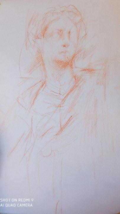The new analyzing sketch in Uffizi Museum